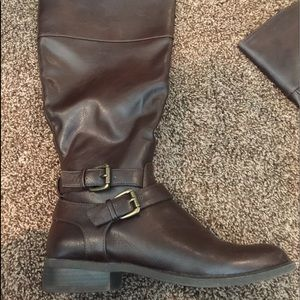Nine West knee high brown boots